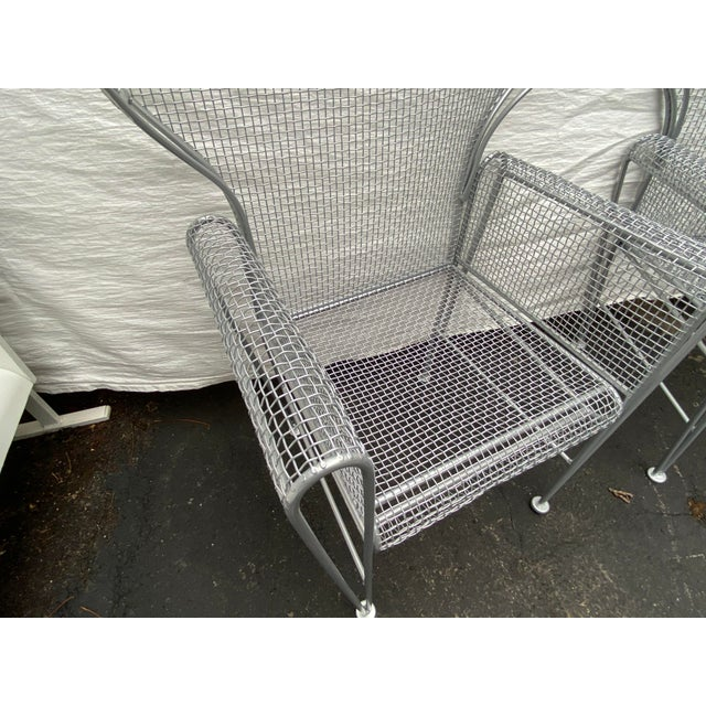 Mid-Century Modern Pair of High Back Outdoor Canopy Chairs by Russell Woodard For Sale - Image 3 of 12