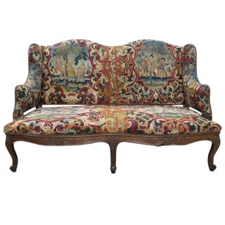 18th Century French Tapestry Sofa For Sale