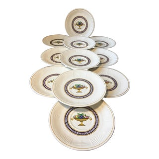 George Jones & Sons Crescent Ivory Small Plates / Saucers - Set of 11 For Sale
