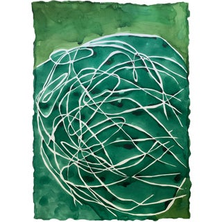 Big Green Tumble Painting by Kate Roebuck For Sale