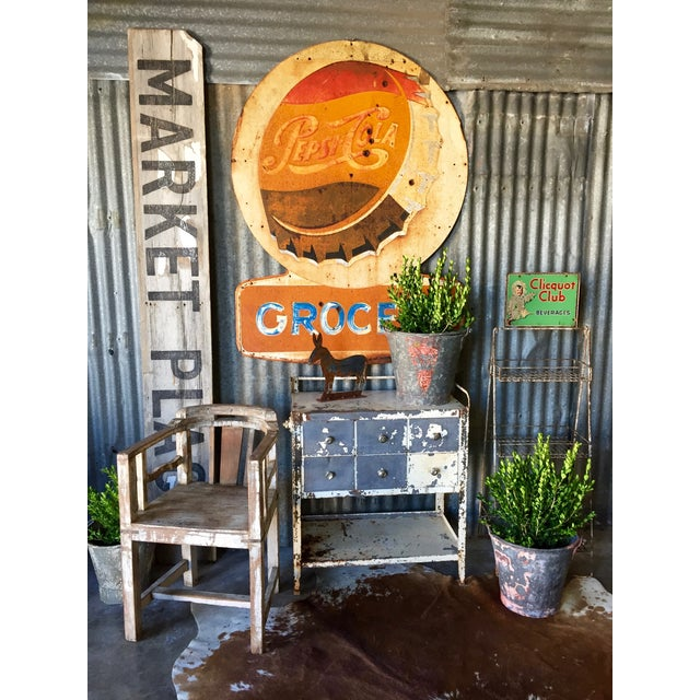 "Reclaimed Weathered Wood ""Marketplace"" Sign - Image 2 of 7"
