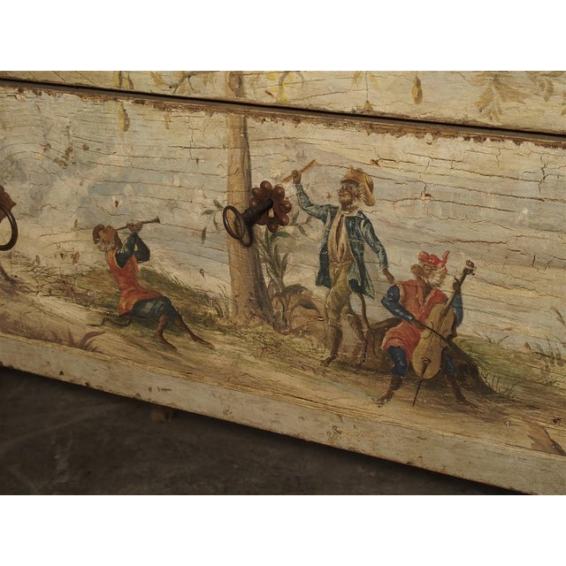 Late 19th Century Antique Painted Commode From Italy, 19th Century For Sale - Image 5 of 13