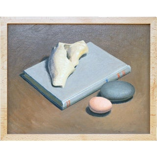 Shell, Book and Egg Still Life Painting