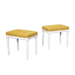 Vintage Faux Bamboo Stools For Sale