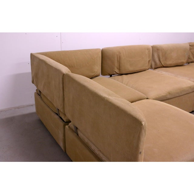Tan 1970s Adrian Pearsall Modular Sectional Sofa for Craft Associates For Sale - Image 8 of 13
