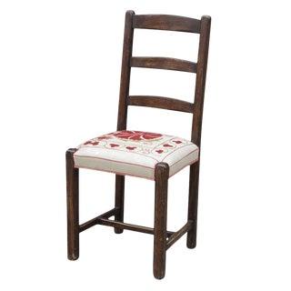 Vintage Suzani Ladder-back Side Chair For Sale