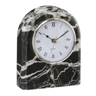 Black & White Marble Desk Clock