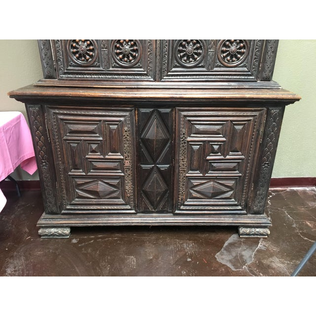 Large 19th Century French Carved Double Buffet From Brittany For Sale - Image 4 of 12
