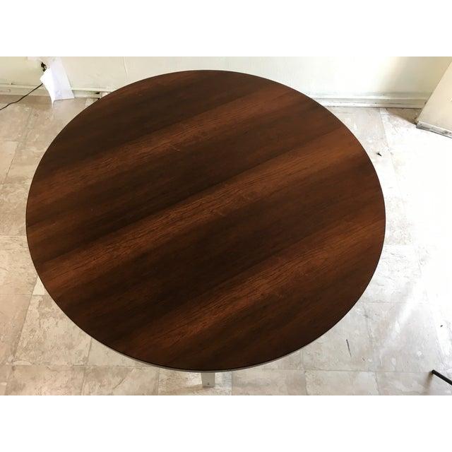 1960s Vintage Jørgen Kastholm & Preben Fabricius Rosewood and Aluminum Center Table For Sale - Image 9 of 12