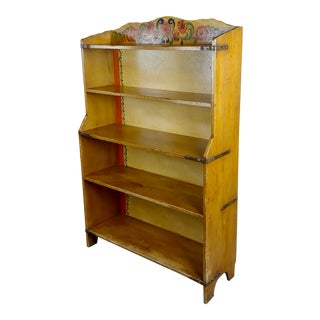 Monterey Original 1930s Painted Bookstand -Signed For Sale