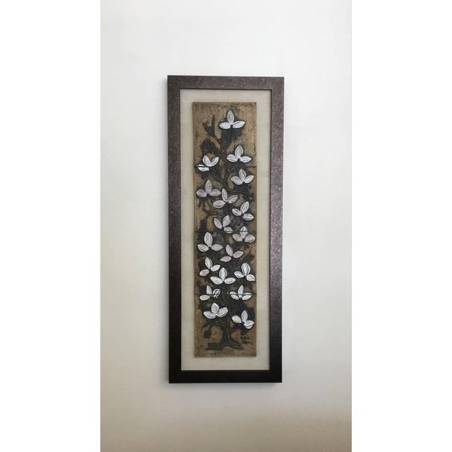 Tan Ceramic Tile Wall Art by Victoria Littlejohn For Sale - Image 8 of 8