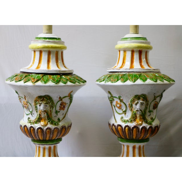 Italian Maiolica Table Lamps - A Pair - Image 3 of 9