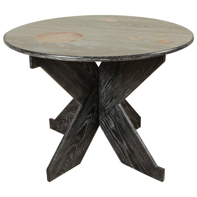 Martin & Brockett Circle Entry Table With X Base - Image 1 of 7