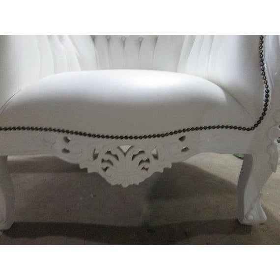 French Bergere Louis XV Style Large Arm Chair - Image 2 of 2