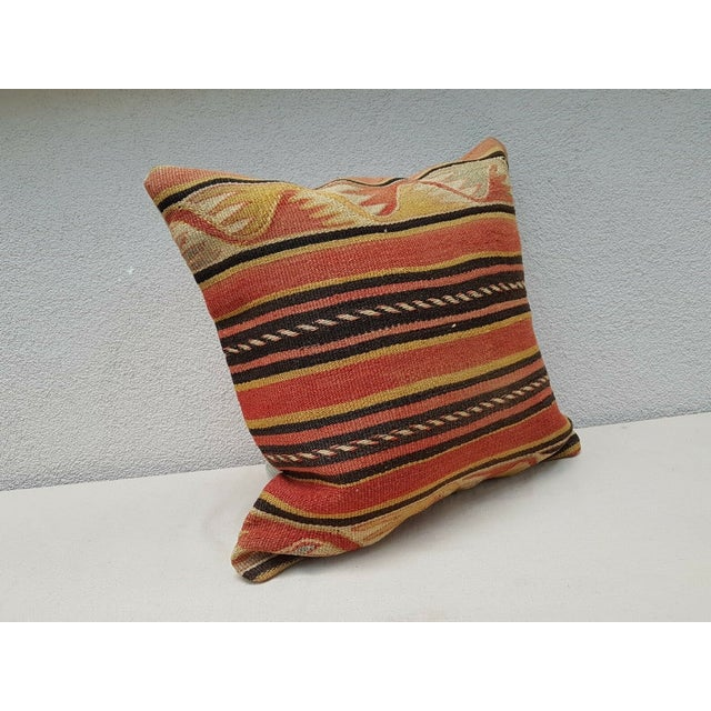 Contemporary Vintage Turkish Kilim Pillow For Sale - Image 3 of 9