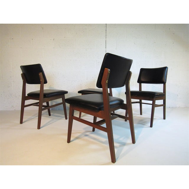 1960s Jens Risom Series 7611 Walnut Dining Chairs For Sale - Image 5 of 10