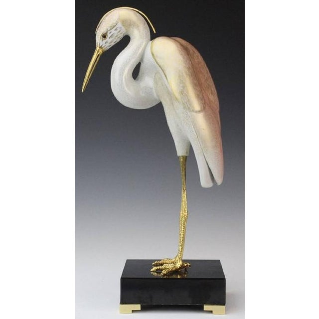 A masterwork of Italian craftsmanship by the Mangani family in partnership with the Oggetti company. This stork has a...
