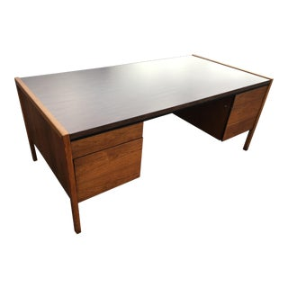 Mid-Century Modern Walnut Executive Desk Manner of Jens Risom For Sale