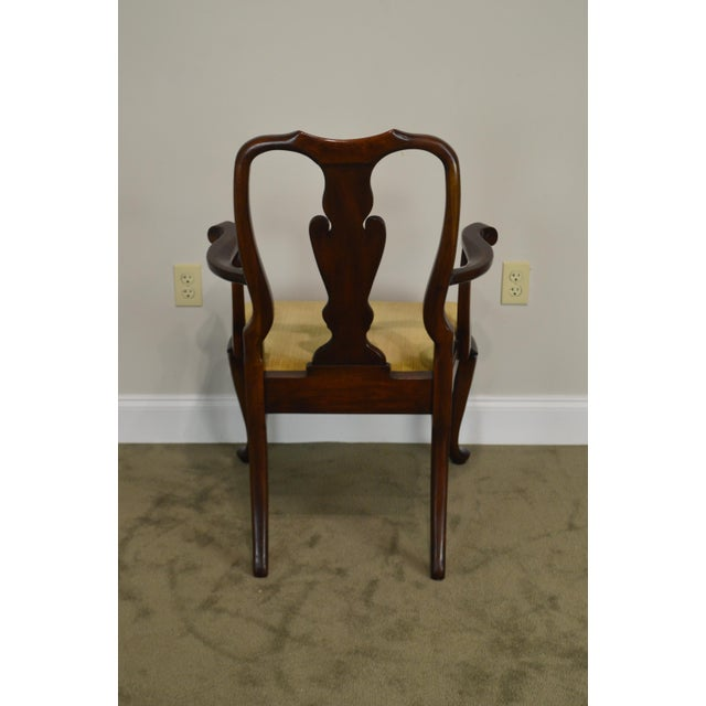 Henkel Harris Queen Anne Style Mahogany Pair of Arm Chairs #110a For Sale - Image 9 of 12