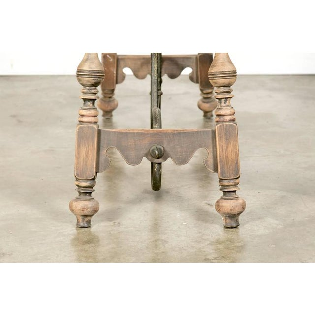 1920s Oscar Bach Art Deco Leather Top Console For Sale - Image 9 of 10