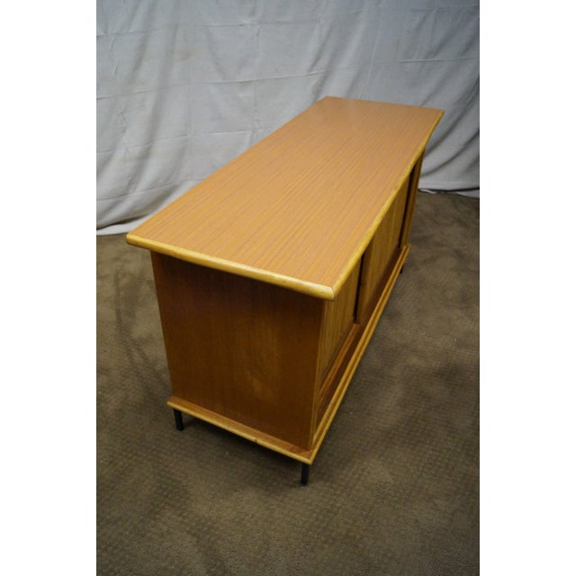 Mid-Century Bamboo Rattan Sideboard Credenza - Image 3 of 10