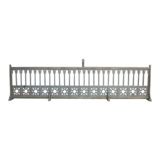 Enchanting 19th Century French Gothic Church Altar Railing For Sale