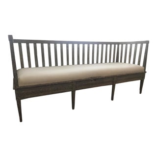 Early 19th Century Vintage Gustavian Bench For Sale