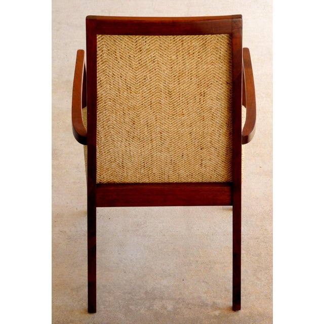 Dillingham Mid-Century Walnut Dining Chairs - Set of 6 - Image 6 of 9