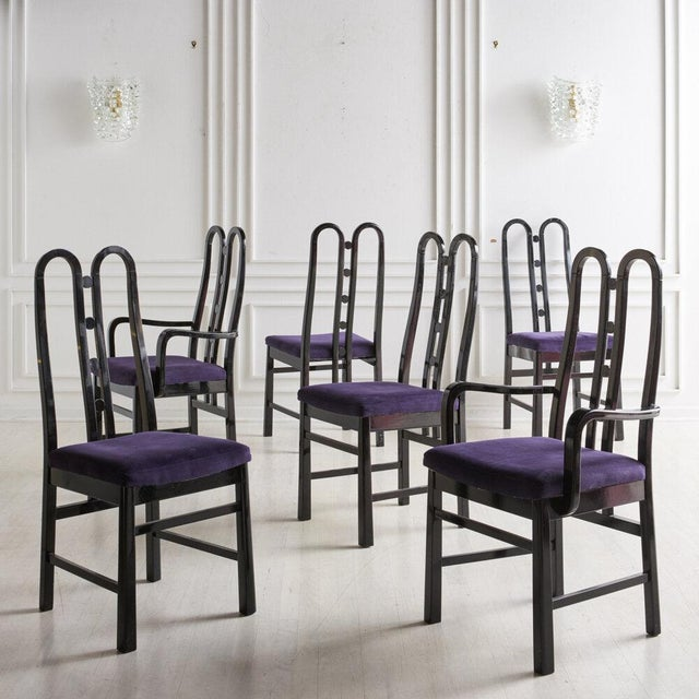 Textile A Set of 6 Post Modern Dining Chairs by Aldo Rossi, 1980s For Sale - Image 7 of 7
