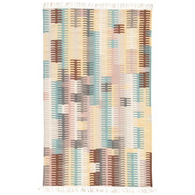 Jaipur Living Carver Indoor/ Outdoor Abstract Turquoise/ Yellow Area Rug - 2' X 3' For Sale