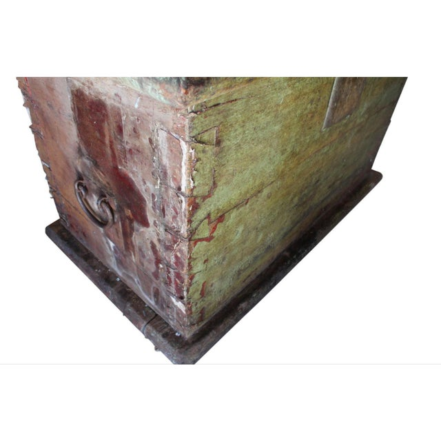 Huge 1650s Asian Trunk, Wood & Iron, Handmade Craftsmanship For Sale - Image 9 of 10