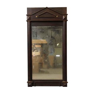 Wood Framed Arched Peaked Mirror With Beveled Glass Preview