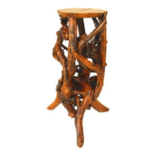 Small 20th C. American Adirondack Style Root Pedestals For Sale