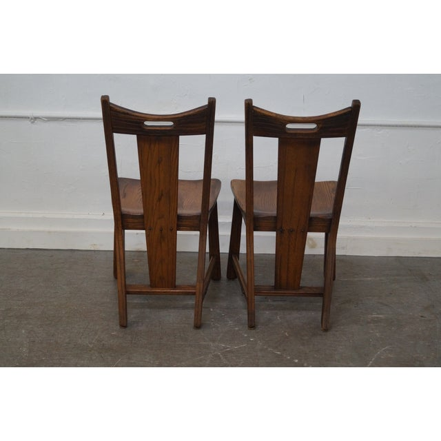 Brandt Ranch Oak Rust Dining Chairs - Set of 4 - Image 4 of 10