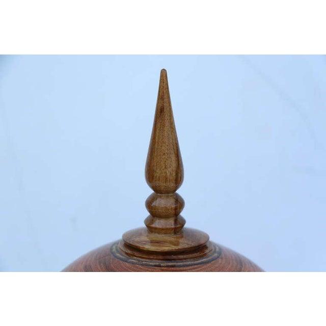Traditional Stunning Hand-Turned Honey Locust Vase by John Mascoll For Sale - Image 3 of 6