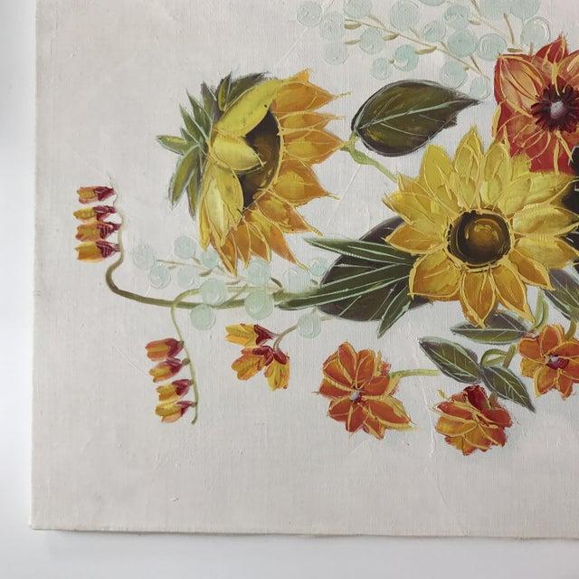 Vintage Original Floral Painting For Sale - Image 4 of 10