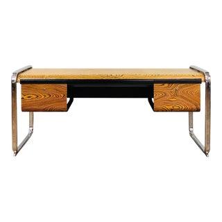 1960s Mid Century Modern Peter Protzman for Herman Miller Zebra Wooden Writing Desk For Sale