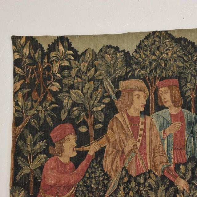 Large Italian Wall Tapestry by Paris Panneaux Gobelins For Sale - Image 10 of 12