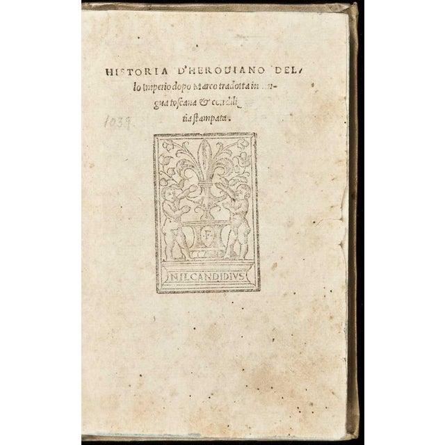 Title: Historia D'Herodiano dello Imperio dopo Marco tradotta in lingua toscana & con diligentia stampata Author: Herodian...