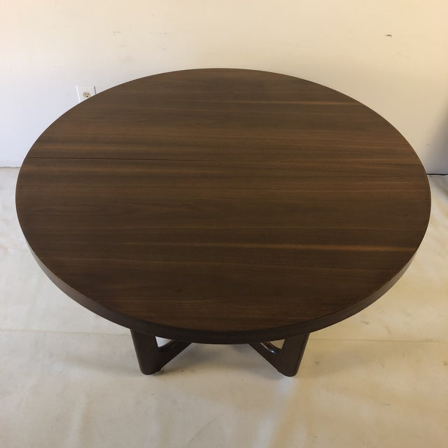 Brown 1960s Danish Modern Walnut Base Dining Table With 2 Leaves For Sale - Image 8 of 13