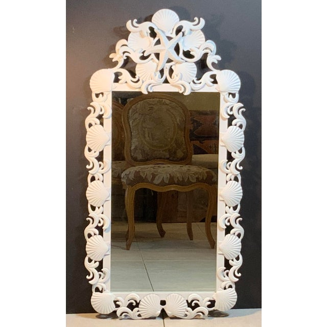 Sea Shell Iron Mirror For Sale - Image 4 of 13
