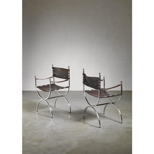 1970s Pair Maison Jansen Side Chairs, France, 1970s For Sale - Image 5 of 5