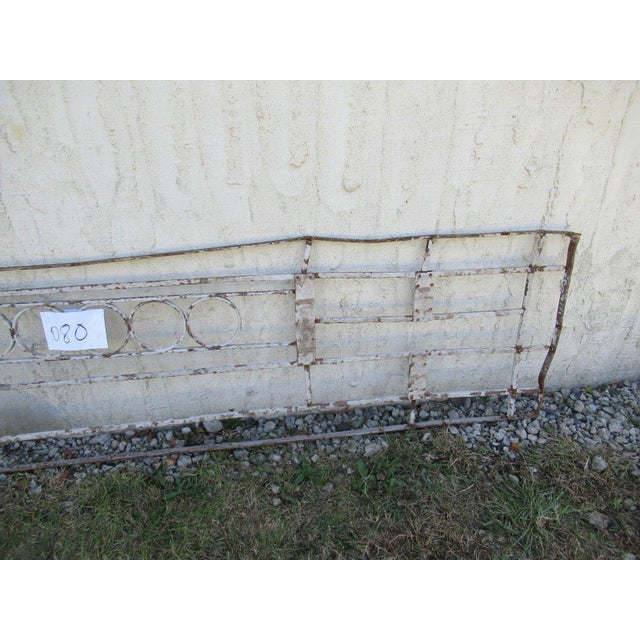 Antique Victorian Iron Gate Window Garden Fence Architectural Salvage Door #081 For Sale - Image 4 of 6
