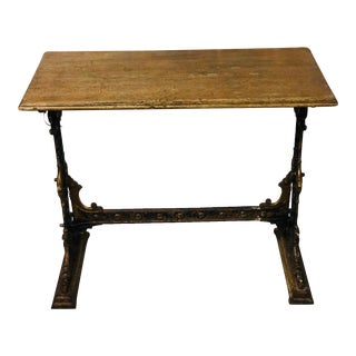 Late 19th Century Gaskell & Chambers Table With Cast Iron Bass For Sale