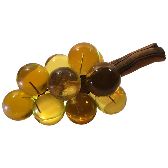 Amber Lucite Grapes - Image 1 of 8