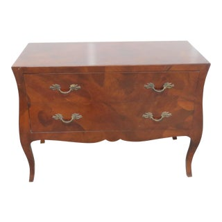 20th Century Italian Louis XV Style Olivewood Commode For Sale