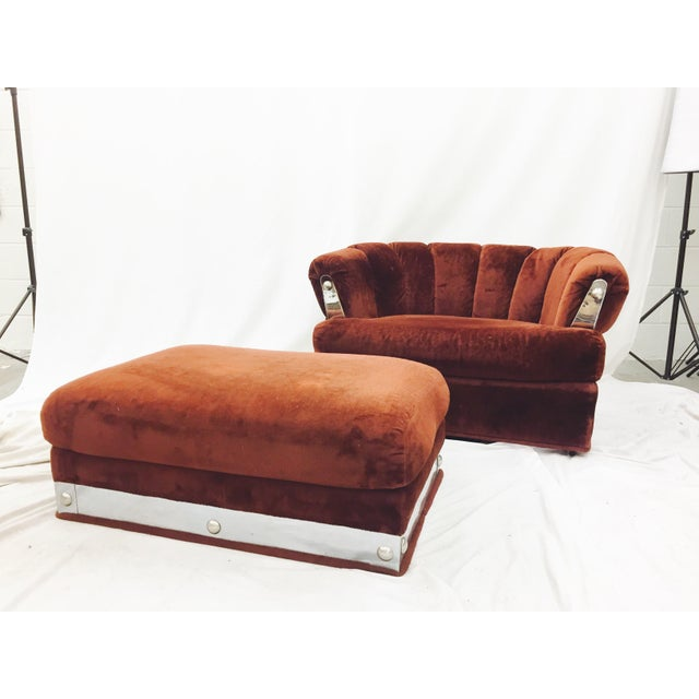 Karpen & Bros. Vintage Mid-Century Modern Chair & Ottoman For Sale - Image 4 of 11