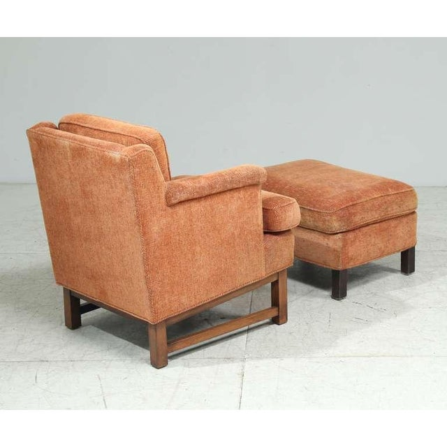 Wood Edward Wormley Lounge Chair with Ottoman For Sale - Image 7 of 9