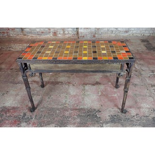 Spanish Bushere & Son Iron Studio Mosaic California Tile Entry Table Preview