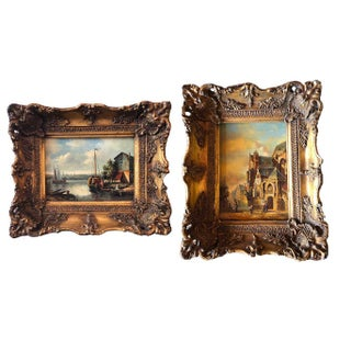 Dutch Oil Paintings - a Pair For Sale